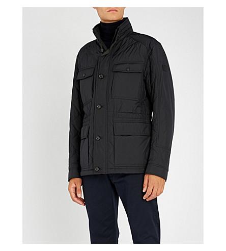 BOSS Stand-collar padded jacket (Open+blue