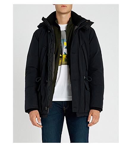 BOSS 绗缝棉混纺和下混纺大衣 (开 + 蓝