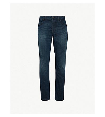 BOSS 直修身版型牛仔裤 (海军