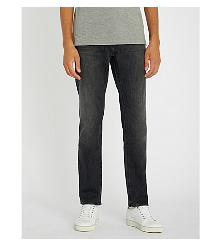 BOSS 修身版型锥形牛仔牛仔裤 (木炭