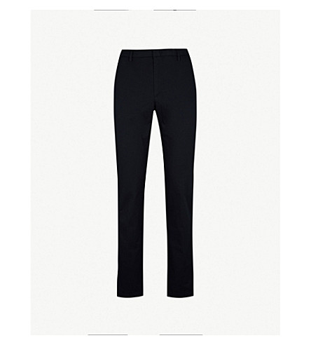 BOSS 修身版型直弹力棉裤子 (开 + 蓝)