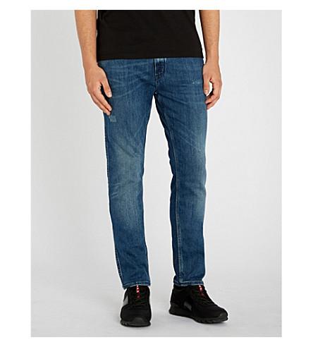HUGO瘦身锥形牛仔裤 (亮 + 蓝)