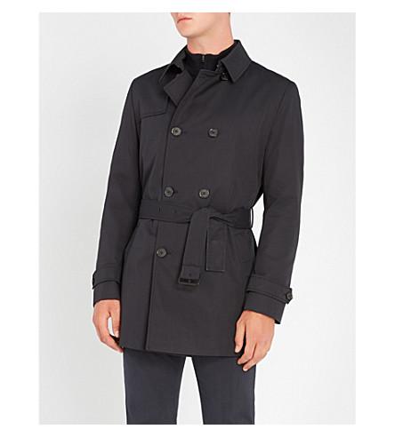 HUGO Woven cotton-blend trench coat (Dark+blue