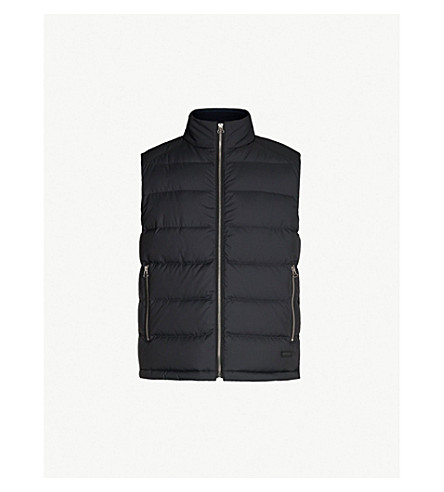 HUGO Quilted shell and down-blend gilet (Black