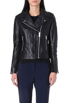 WHISTLES Lita leather biker jacket