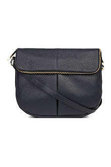 WHISTLES Duffy leather satchel