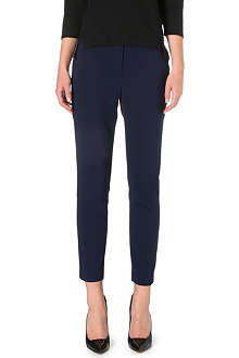 WHISTLES Gaby tapered stretch-cotton trousers