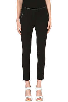 WHISTLES Nicolette leather-trimmed trousers