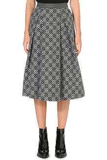 WHISTLES Ivy monochrome midi skirt
