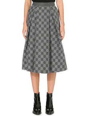 WHISTLES Ivy monochrome midi skirt