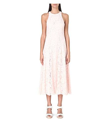 WHISTLES Cora lace dress (Pink