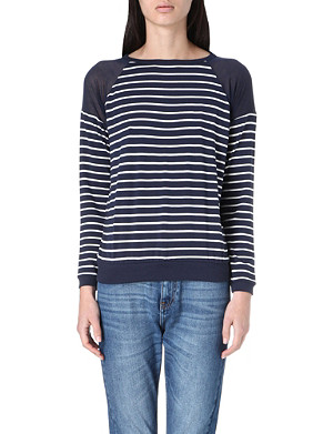 WHISTLES Fitted stripe top