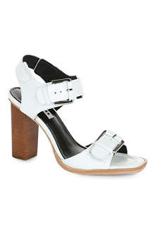 WHISTLES Gia buckle block heel sandals
