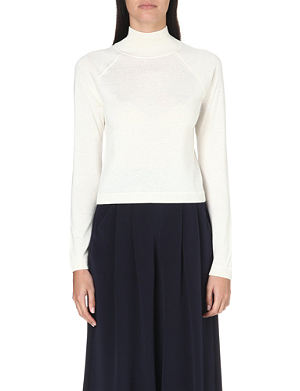 WHISTLES Ella cropped turtleneck jumper