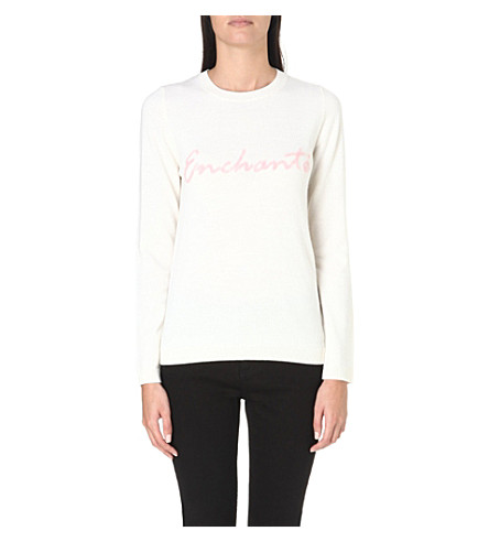 WHISTLES Enchanté wool jumper (Cream