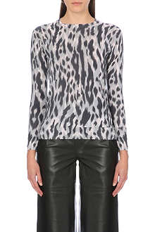 WHISTLES Tyler animal print jumper