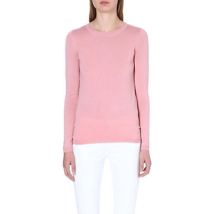 WHISTLES Annie metallic-flecked jumper (Pink