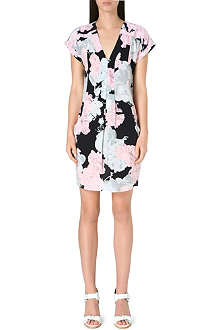WHISTLES Rosewater floral-print dress