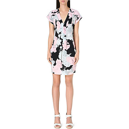 WHISTLES Rosewater floral-print dress (Multi-coloured