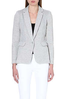 WHISTLES Ella jersey-panel blazer