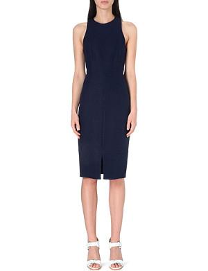 WHISTLES Split-hem linen-blend midi dress
