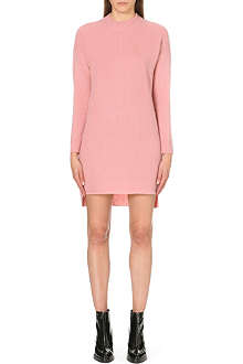 WHISTLES Ribbed front cashmere-mix jumper dress