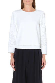 WHISTLES Long-sleeved sequin top