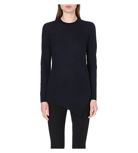 WHISTLES Mai Limited Edition wool-blend jumper (Navy