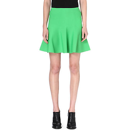 WHISTLES Stretch-knit Limited Edition skater skirt (Green