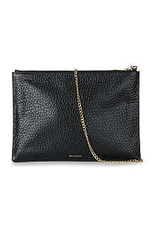 WHISTLES Rivington bubble-effect leather clutch