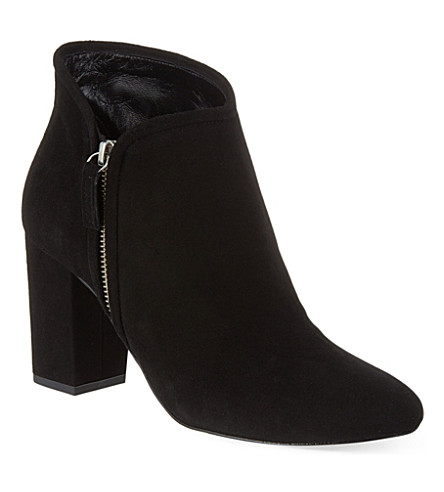 WHISTLES Marilyn suede heeled ankle boot (Black