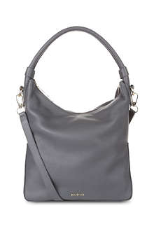 WHISTLES Belgrave simple leather hobo