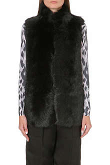 WHISTLES Leather-lined sheepskin gilet