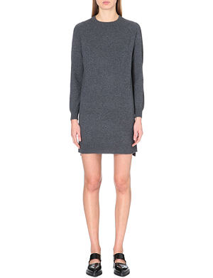 WHISTLES Popperback cashmere dress