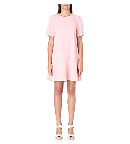 WHISTLES Simone cupro dress (Pink