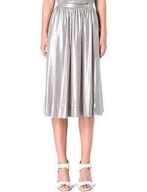 WHISTLES Daisy foil midi skirt