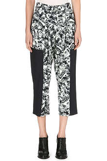 WHISTLES Anais Limited Edition abstract-print trousers