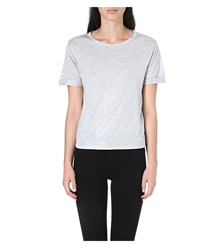 WHISTLES Ella cotton t-shirt (Silver