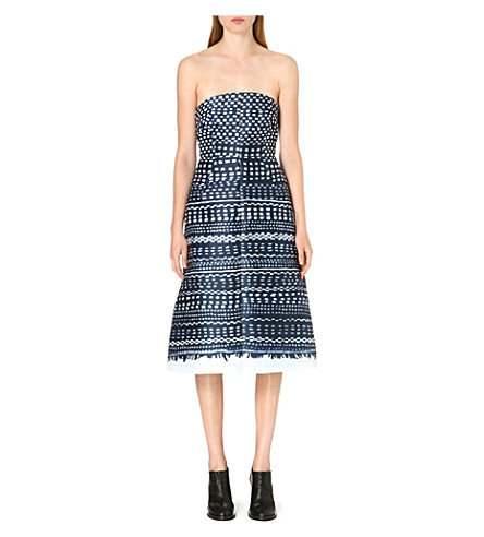 WHISTLES Kourou Limited Edition strapless dress (Navy