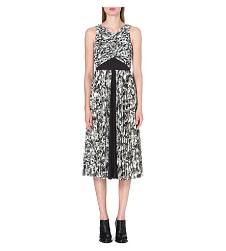 WHISTLES Anais Limited Edition abstract-print dress (Cream