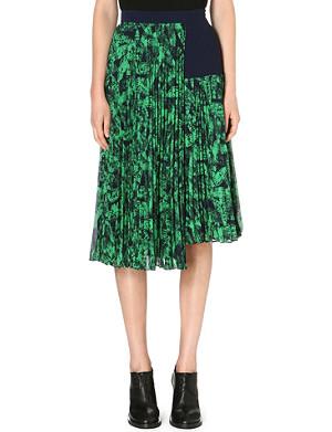 WHISTLES Anais Limited Edition abstract-print skirt