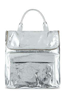 WHISTLES Verity metallic cracked leather rucksack