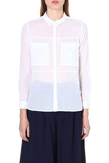 WHISTLES Skye cotton shirt