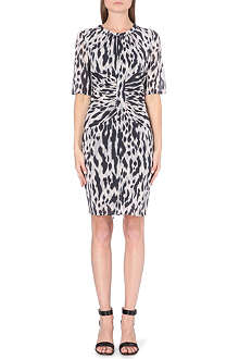 WHISTLES Bella Tyler animal-print dress