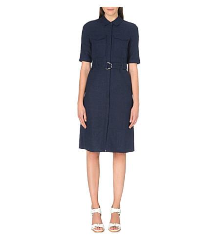 WHISTLES Hilary utility shirt dress (Navy