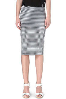 WHISTLES Striped jersey pencil skirt