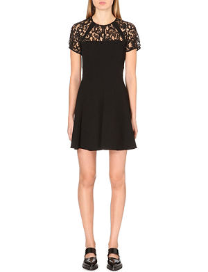 WHISTLES Jude lace-insert dress