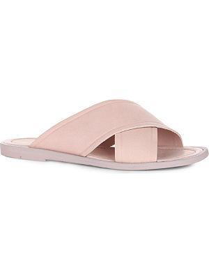 WHISTLES Bobbi cross-vamp leather sandals