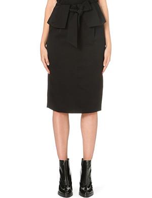 WHISTLES Kinu folded skirt