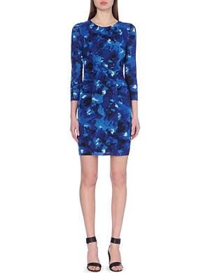 WHISTLES Izzey marble-print bodycon dress